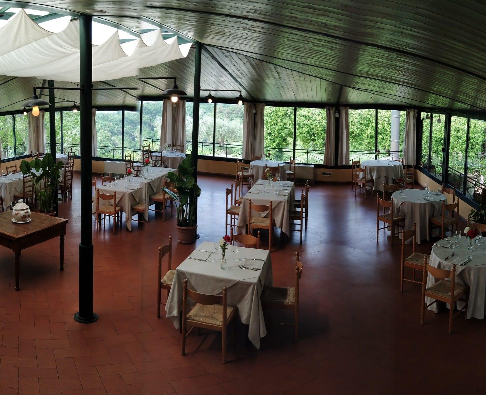 Salone da pranzo del Ristorante dei Merli